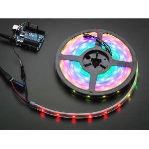 NeoPixel LED riba, RGB Digital, IP65, 30 LED/m, must alus, 1m