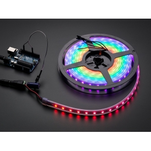 NeoPixel LED riba, RGB Digital, IP65, 60 LED/m, must alus, 1m
