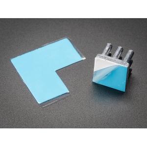 Termomatt, 0.6W/mK, 25 x 25 x 0.25mm, liimiga