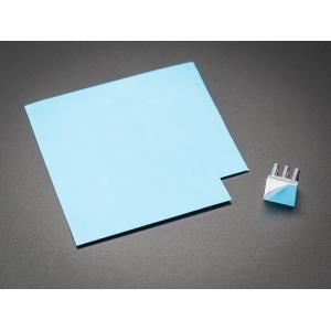 Termomatt, 0.6W/mK, 80 x 80 x 0.25mm, liimiga