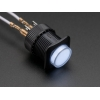 16mm Illuminated Pushbutton - White Latching On/Off Switch