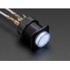 Nupplüliti 16mm, LED valgusega, valge