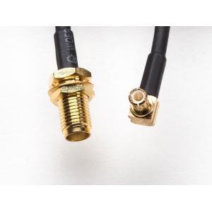RF adapterkaabel paneelile, MCX - SMA pesa, 26cm