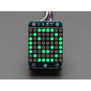 LED maatriks 8x8, 20mm, I2C draiveriga, puhas roheline