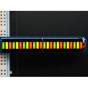 LED tulp indikaator, 24 segmenti, punane/roheline, trükkplaadil