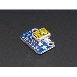 Adafruit USB Mini-B pesa trükkplaadil