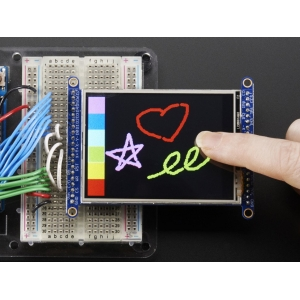 TFT displei 2.8´´ 240x320, puutetundlik, MicroSD kaardi lugejaga