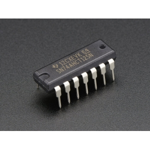 74AHCT125 - 4-bit puhver / nivookonverter, DIP-14