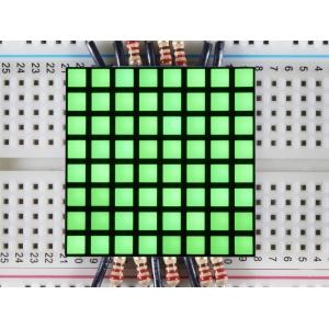 LED maatriks 8x8, kandiline, 30mm, roheline