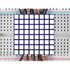 LED maatriks 8x8, kandiline, 30mm, valge
