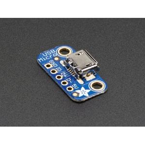 Adafruit USB Micro-B pesa trükkplaadil