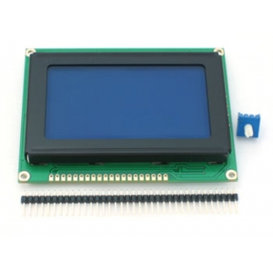 LCD 128x64 graafiline displei, valge tekst, sinine taust