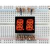 14-segment LED displei, 2 kohta, 13.7mm, punane, 2 tk