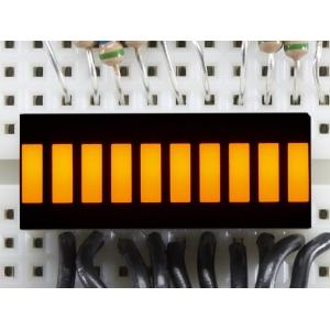 LED tulp indikaator, 10 segmenti, kollane