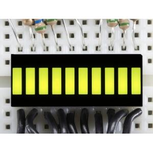 LED tulp indikaator, 10 segmenti, kollakas-roheline