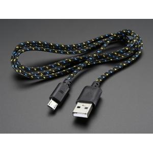 USB kaabel, USB-A - Micro-B, punutud riidest kattega, 90cm