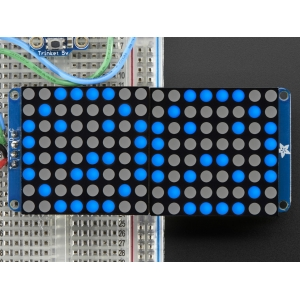 LED maatriks 16x8, 30mm, I2C draiveriga, sinine