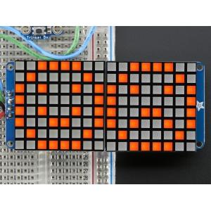 LED maatriks 16x8, kandiline, 30mm, I2C draiveriga, merevaik