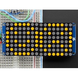 LED maatriks 16x8, 30mm, I2C draiveriga, oranž