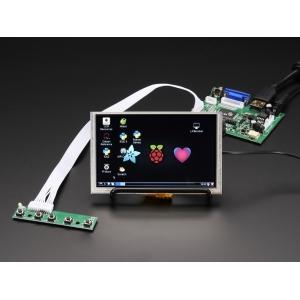 TFT displei 5´´ 800x480, puutetundlik, HDMI/VGA/NTSC/PAL