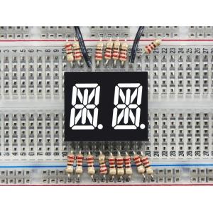 14-segment LED displei, 2 kohta, 13.7mm, valge, 2 tk