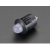LED 8mm kinnitus paneelile, plastik, 5 tk