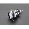 8mm Chromed Metal Wide Bevel LED Holder - Pack of 5