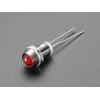 LED 5mm kinnitus paneelile, metall, 5 tk