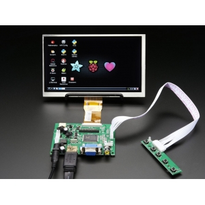 TFT displei 7´´ 1024x600, HDMI/VGA/NTSC/PAL