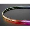 DotStar RGB LED riba, 144 LED/m, must alus, 0.5m