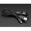 USB Power Only Cable with Switch - A/MicroB