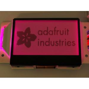 LCD 128x64 graafiline displei, RGB taustvalgusega, positiiv
