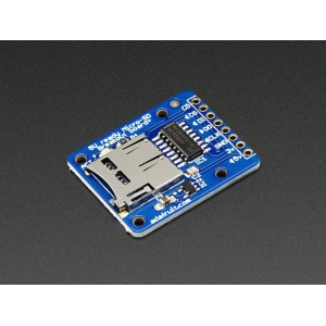 Adafruit MicroSD kaardi pesa trükkplaadil, 3.3V ja 5V