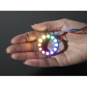 NeoPixel 12 x 5050 RGBW LED rõngas, soe valge