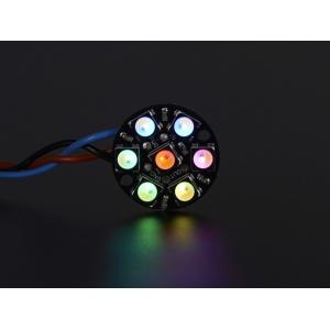 NeoPixel 7 x 5050 RGBW LED rõngas, soe valge