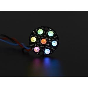 NeoPixel 7 x 5050 RGBW LED rõngas, külm valge