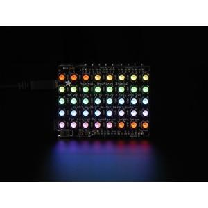 NeoPixel 5x8 RGBW LED maatriks, Arduino´le, külm valge