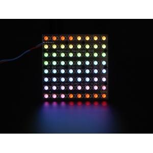 NeoPixel 8x8 RGBW LED maatriks, soe valge