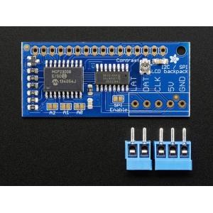 LCD maatriksdisplei kontroller, I2C / SPI