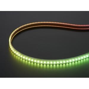 NeoPixel LED riba, RGB Digital, kitsas, IP65, 144 LED/m, valge alus, 1m