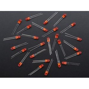 LED 5mm, punane, matt lääts, 25 tk