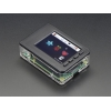 """Pi Model B+ / Pi 2 / Pi 3 - Case Base and Faceplate Pack - Clear - for 2.8"""" PiTFT"""
