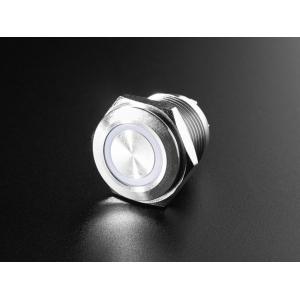 Nupplüliti 16mm, metall, LED valgusega, RGB