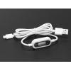 USB kaabel, USB-A - Micro-B, pinge ja voolu indikaatoriga, 1m