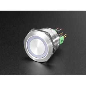 Nupplüliti 22mm, metall, LED valgusega, RGB