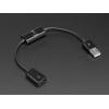 USB kaabel, USB A, Data ja toite lülitiga, 24cm