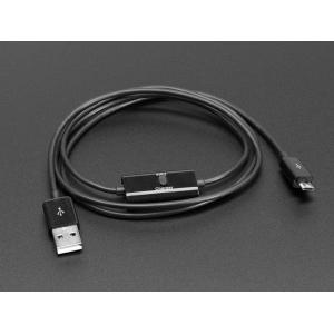USB kaabel, USB-A - Micro-B, Data ja toite lülitiga, 1m