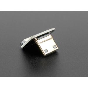 Mini HDMI pistiku adapter lintkaablile, alla pööratud