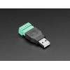 USB-A Male Plug to 5-pin Terminal Block