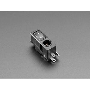 DC toitepesa 5.5/2.1mm, klahvlülitiga